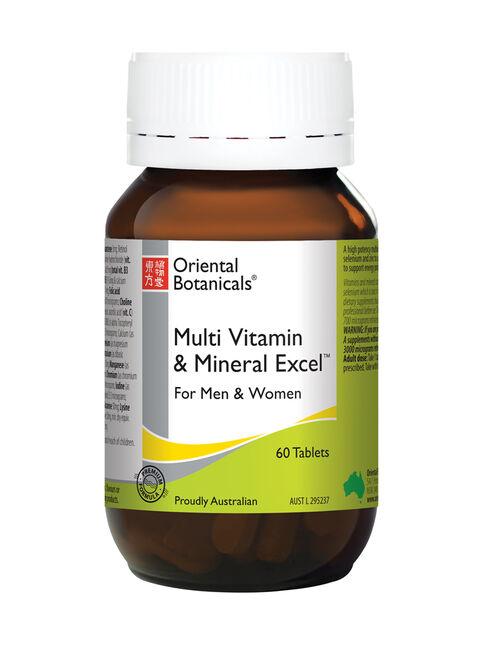 Multi Vitamin & Mineral Excel 60 Tablets