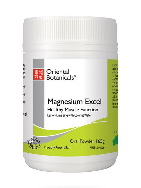 Magnesium Excel Powder Lemon-Lime Zing 165g